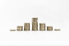 2 euro gestapelde muntstukken Stock Afbeelding