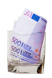 Euro in glass Royalty Free Stock Images