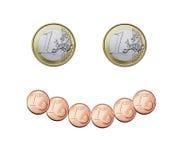 Euro glimlach royalty-vrije stock foto
