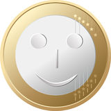 Euro glimlach Stock Afbeeldingen