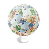 Euro globe Photos stock