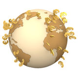 Euro Globe Royalty Free Stock Photos