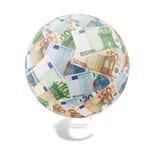 Euro globo Fotografie Stock