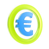 Euro glossy sign inside the circle Stock Images