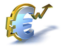 Euro going up Royalty Free Stock Photo
