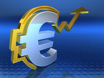 Euro going up Royalty Free Stock Images