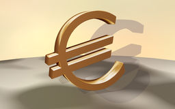 Euro gold Royalty Free Stock Photo