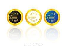 Euro gold symbol Stock Image
