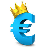 Euro Golden Crown Royalty Free Stock Image