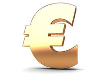 Euro golden sign Stock Photography