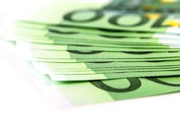 Euro gotówka na białym tle zdjęcie stock
