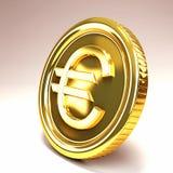 Euro Gouden Muntstuk Royalty-vrije Illustratie