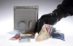 Euro grabber Stock Image