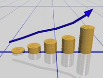 Euro graph Royalty Free Stock Images