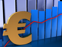 Euro graph Stock Photos