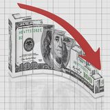Euro graph round Stock Photo