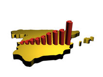 Euro graph on Spain Stock Photo