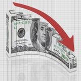 Euro graphique rond Photo stock