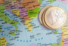euro greece Arkivfoton