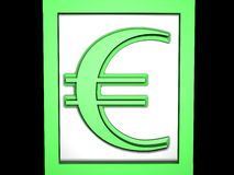 Euro green. High resoulation 3d render with green Royalty Free Stock Photos