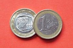 Euro grego Imagem de Stock Royalty Free