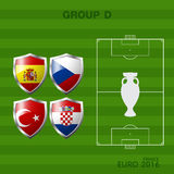 Euro 2016 group a in soccer. Infographic Stock Photo