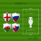 Euro 2016 group a in soccer. Infographic Stock Images