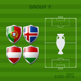 Euro 2016 group a in soccer. Infographic Stock Photos