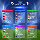 Euro 2016 group stage concept. For any design Stock Photo