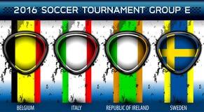 Euro groupe E du football Photo libre de droits