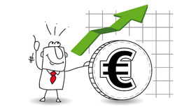 Euro is growing up Royalty Free Stock Photos