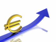 Euro growth Royalty Free Stock Photos