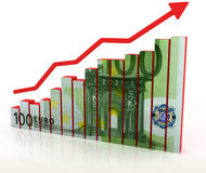 Euro growth diagram Stock Photo