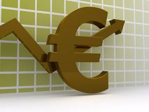 Euro Growth Graph Royalty Free Stock Images