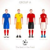 EURO 2016 GRUPPE eine Meisterschaft Stockbild