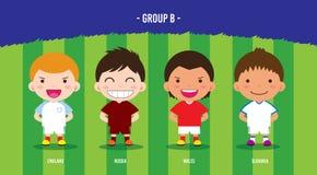 EURO gruppo B di calcio Immagini Stock