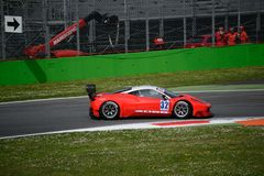 Euro GT Sprint Ferrari 458 Italia at Monza Royalty Free Stock Photo