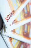 50 euro- guardanapo Foto de Stock Royalty Free