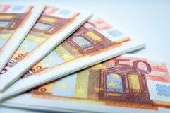 50 euro- guardanapo Fotografia de Stock