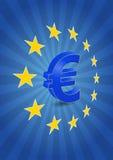 Euro gwiazdy Obrazy Royalty Free