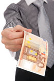 Euro in a hand Royalty Free Stock Photography