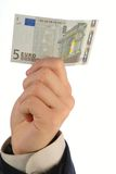 Euro in hand Stock Image