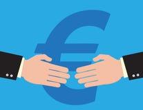 Euro Handshake Royalty Free Stock Photo
