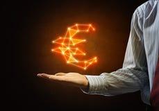 euro hauts de la devise 3d d'isolement rendent le symbole de résolution blanc Image libre de droits