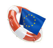 Euro help. On a white background Royalty Free Stock Images