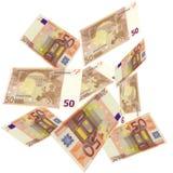 EURO het vallen stock fotografie