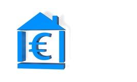Euro home do orçamento Foto de Stock