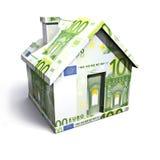 Euro house. Isolated on a white background Stock Photo