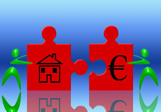 Euro and house Royalty Free Stock Image