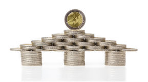 Euro House, coins, investment Stock Photo